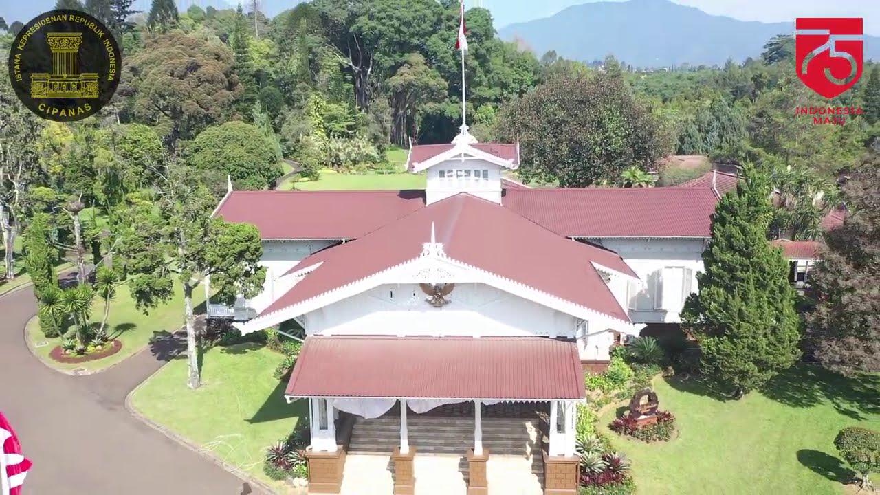 Persiapan HUT ke-75 Kemerdekaan RI di Istana Kepresidenan Cipanas