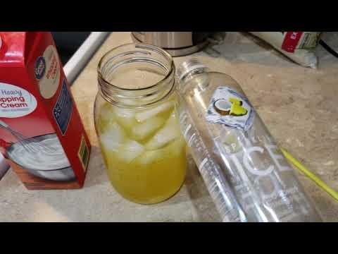 Piña Colada With Sparkling Ice (Keto Friendly)