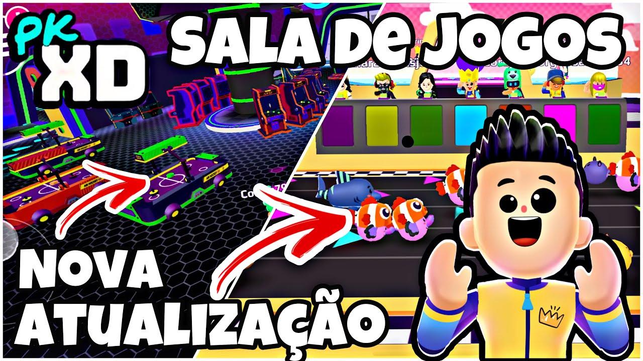 PK XD ATUALIZAÇÃO NOVA SALA DE JOGOS E MINI GAME NO ROBOZÃO PETER TOYS