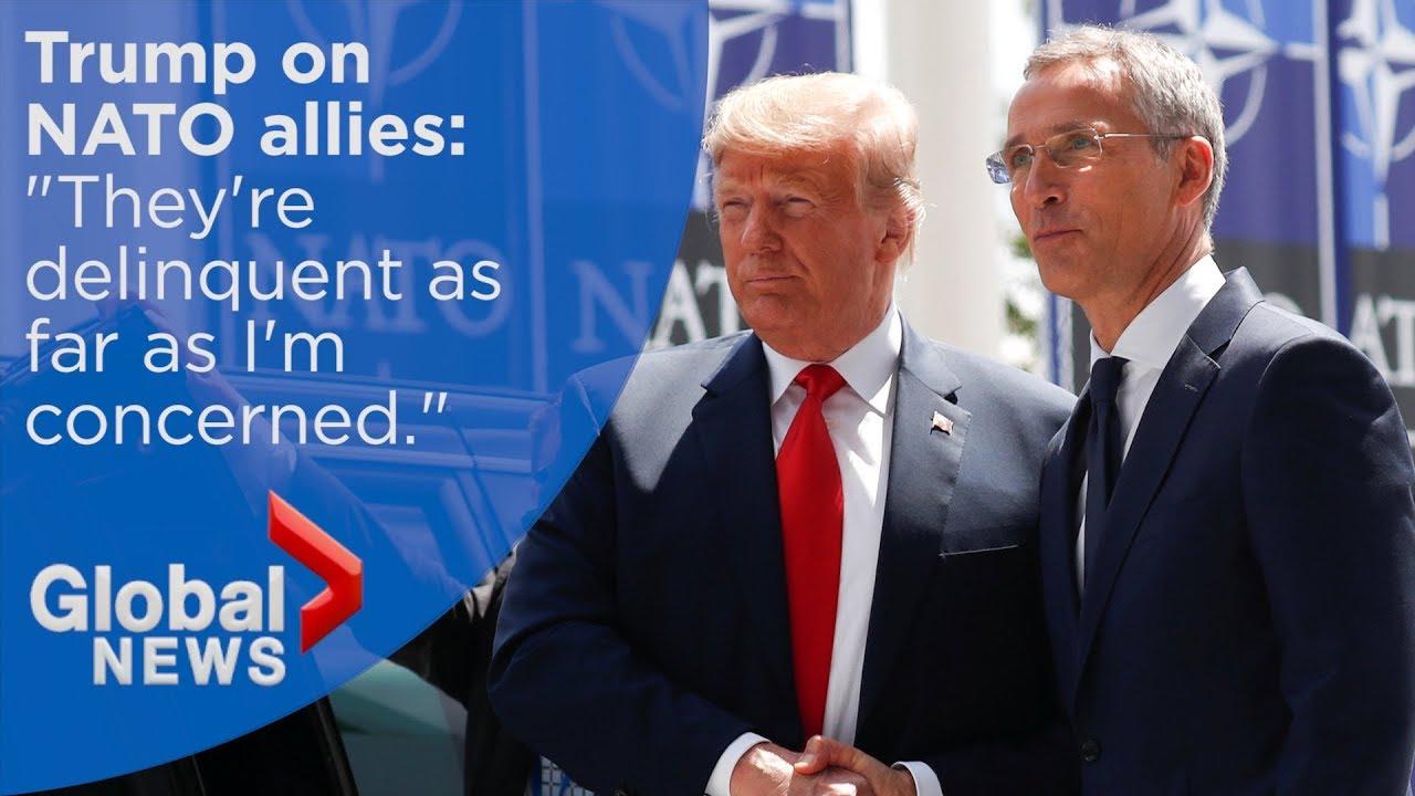 "Trump calls NATO allies ""delinquent"" over defence spending"