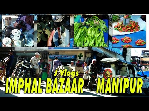 Shopping At Imphal Bazar With My Mom - J Vlogs