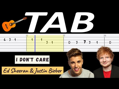 🎸 I don't care (Sheeran, Bieber) - melodia TAB (gitara) (melody) 🎸