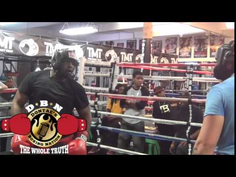 (INTENSE) HEAVYWEIGHT SPARRING AT THE MAYWEATHER BOXING CLUB