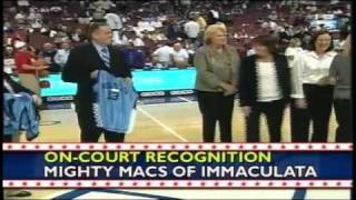 Mighty Macs Honored on Center Court