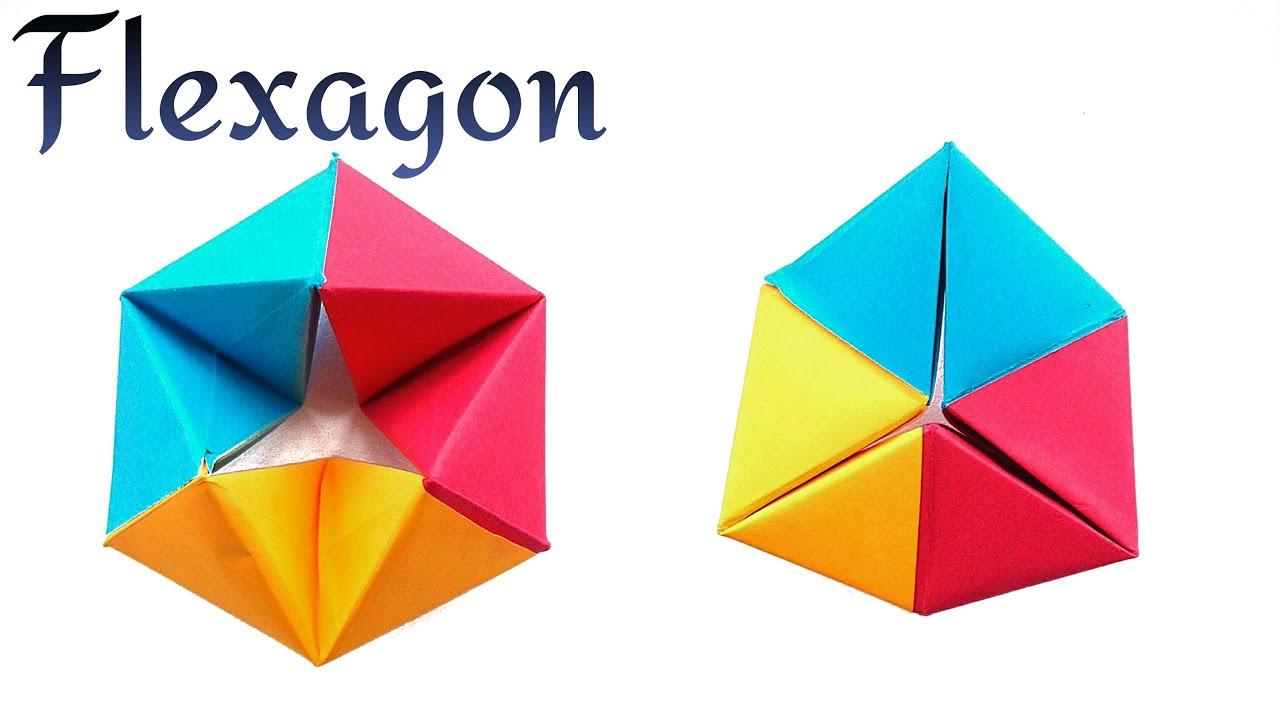 cool modular origami diagram cub cadet wiring lt1050 infinite rotating tetrahedron flexagon diy