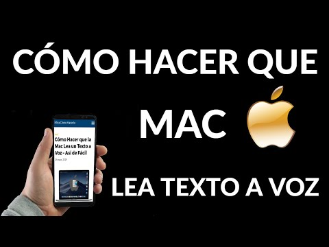 Cómo Hacer que Mac Lea un Texto a Voz