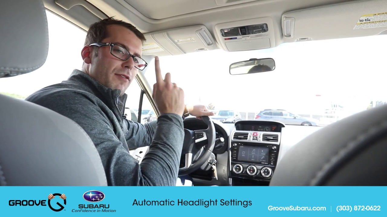 adjust the automatic headlight settings on your subaru forester [ 1280 x 720 Pixel ]