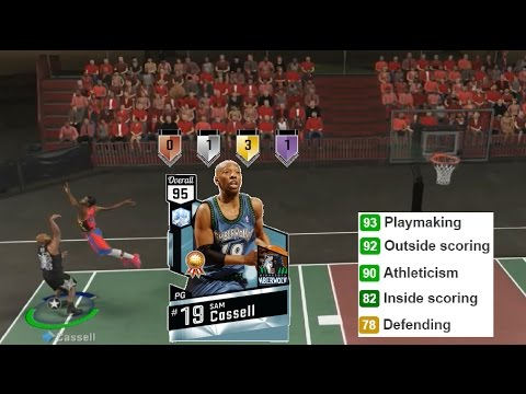 NBA 2K17 Diamond Sam Cassell Gameplay & Stats MyTeam Blacktop