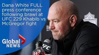 Dana White addresses post-fight brawl at UFC 229 Khabib vs McGregor fight