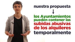 Regular los alquileres abusivos en las ciudades. Lucía Martín.