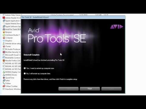 uninstall pro tools se mac
