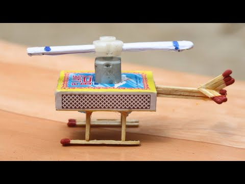 How To Make Helicopter Matchbox Helicopter Toy -  DIY