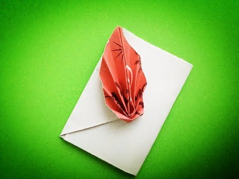 [Origami Envelope with leaves] how to make a easy & simple paper Envelope with leaves DIY for kids