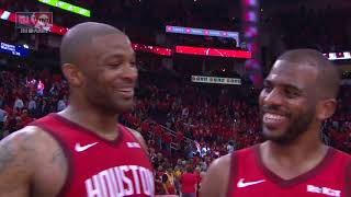 CP3 Talks Intensity Of Playoffs, PJ Tucker HILARIOUSLY Interrupts Touching Paul's Head