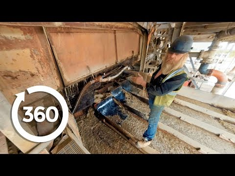 360° Dredge Tour with Tony Beets | Gold Rush (360 Video)