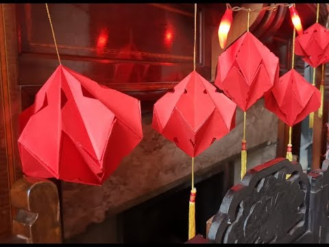 Origami Diamond Lantern - DIY Chinese New Year Decorations ...