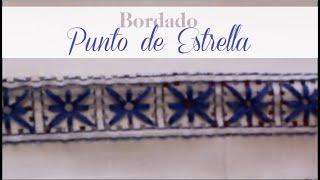DESHILADO BORDADO PUNTO DE ESTRELLA   Tissu