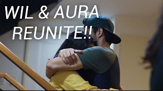 Reunion with #Waura! Wil Dasovich and Aura Azarcon. Kakaevict lang ...
