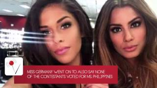 Miss Germany disses Miss Philippines after win
