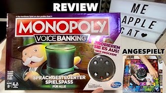 MONOPOLY Voice Banking - Das gute alte Monopoly mit Sprachsteuerung   TEST REVIEW