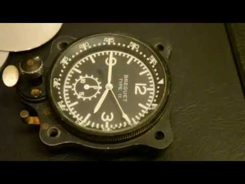 "Aircraft clock"" Breguet ""  Type 11 airplane  vintage air force number  23104"