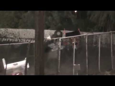 360 Sprint Car Crash @ Petaluma Speedway 10/8/16