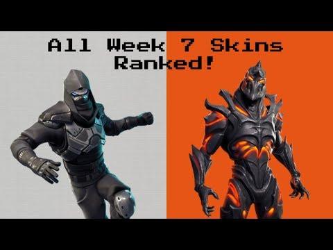 Ranking Every *WEEK 7 SKIN* In Fortnite Battle Royale!