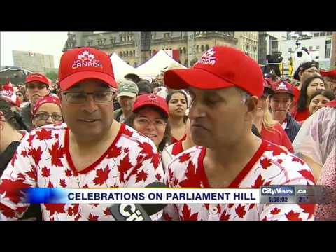 Video: Thousands flock to Ottawa for Canada 150 celebrations