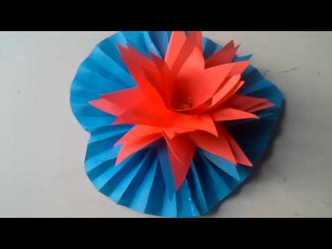 Kagojer Shapla Ful Banano Deccan || DIY paper Water Lily / How to make Water Lily With Paper