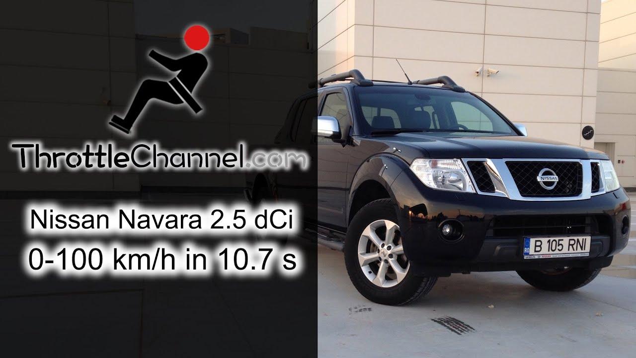 Nissan Navara 2 5 dCi acceleration - ThrottleChannel com
