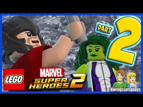 LEGO Marvel Super Heroes 2 - Walkthrough Part 2 Avengers Mansion ...
