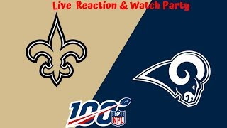 NFL Live Stream: New Orleans Saints Vs Los Angeles Rams (Live Reaction & Play By Play) Week 2
