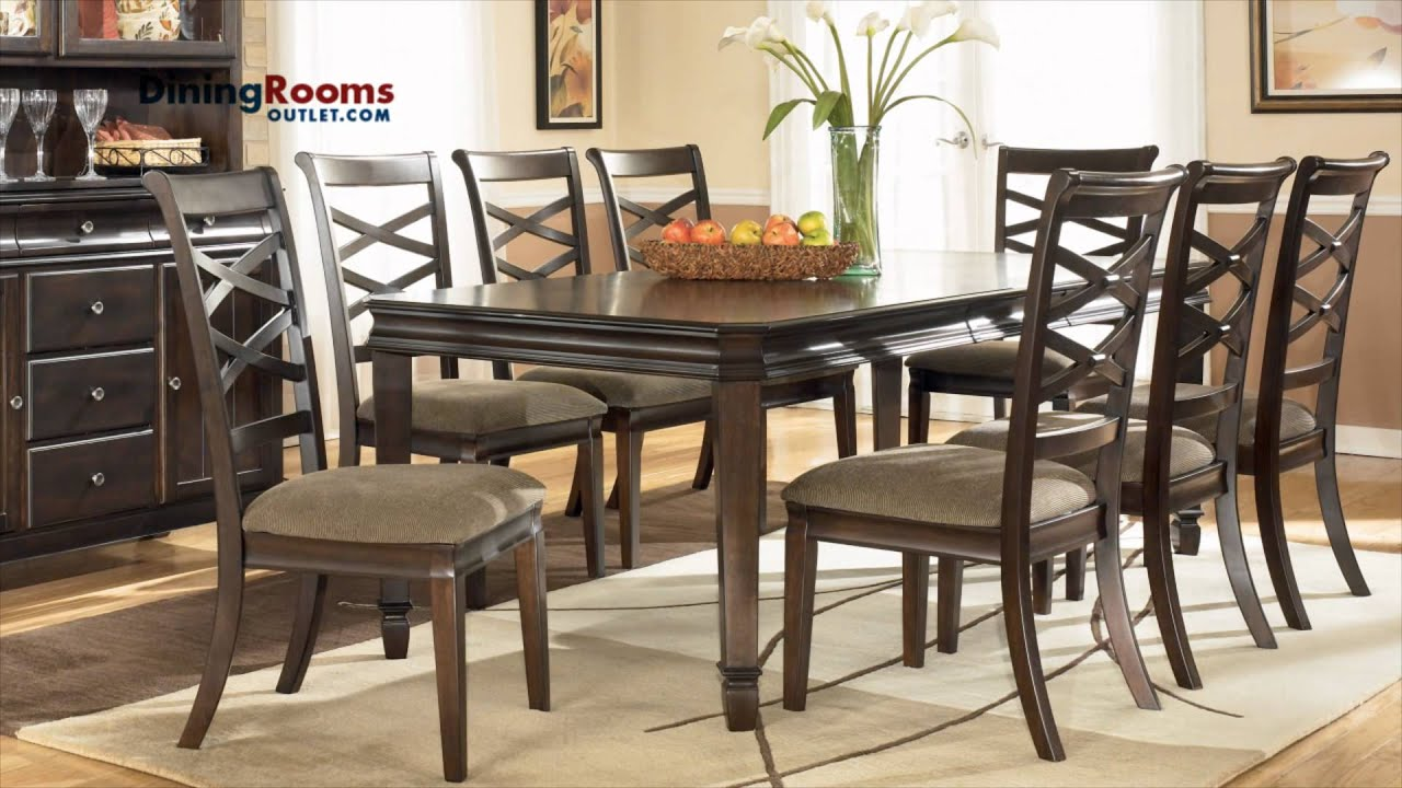 Ashley Hayley 7 pc Rectangular Extension Dining Table Set  : maxresdefault from www.youtube.com size 1920 x 1080 jpeg 199kB