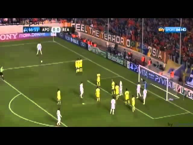 APOEL Nicosia vs Real Madrid 0-3 goal  highlights 27/03/2012 Champions league