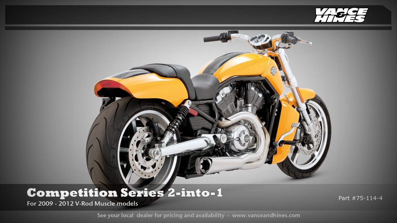 Competition Series 2-into-1 For 2012 Harley-Davidson V-Rod