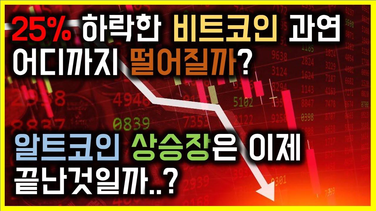25%에 하락을 경험한 비트코인 어디서 매수매도해야될까? 알트코인 상승장은 끝난걸까? 비트코인, 이더리움, XRP 차트분석!
