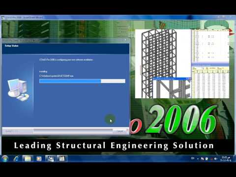 كيفية تنصيب برنامج ستاد برو 2006 _ staad pro 2006