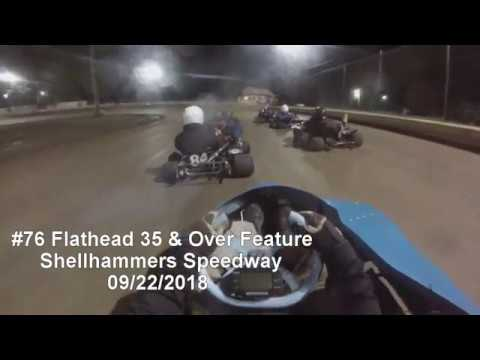 #76 Flathead 35 & Over Feature, Shellhammers Speedway 09/22/2018