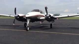 Beechcraft Twin Bonanza D50E Start Up and Taxi