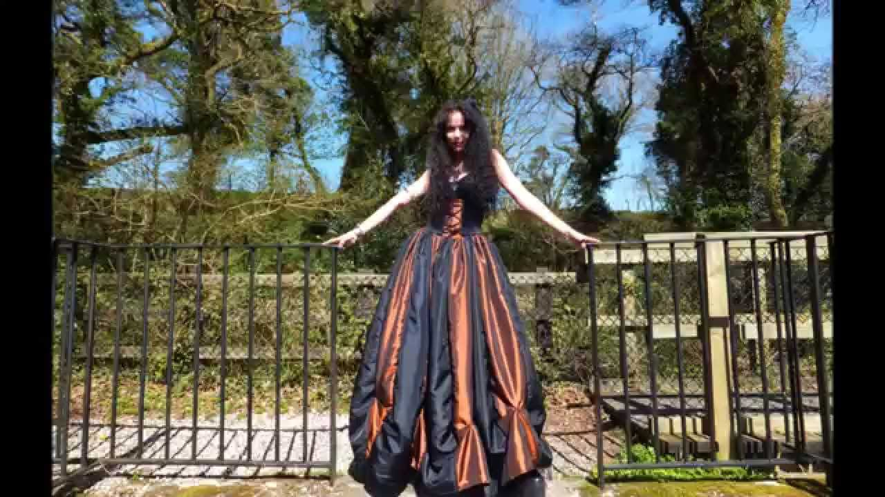 Steampunk Ballgown by Moonmaiden Gothic Clothing - YouTube