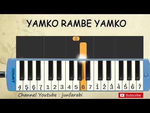 Not Pianika Yamko Rambe Yamko - Lagu Daerah Nusantara Indonesia - Belajar Pianika Not Angka