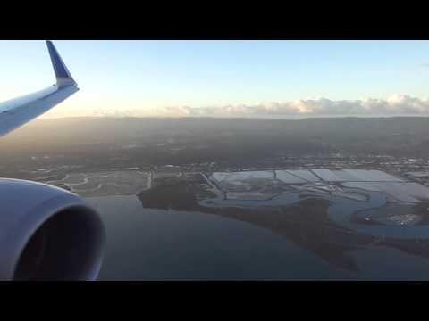 Seattle-San Francisco flight: Night takeoff & sunrise SFO landing-2012-11-10