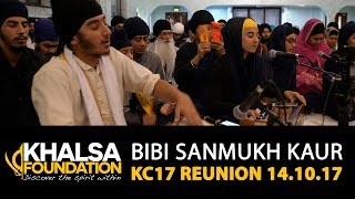 Bibi Sanmukh Kaur - charan saran gur ek paindda jaae chal - KC17 Reunion GNG Smethwick 14.10.17