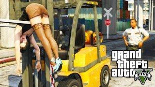GTA V - Random Moments 25 (Forklift Thug Lyfe!)