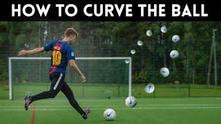 How to Curve tнe Ball   Shoot like MESSI