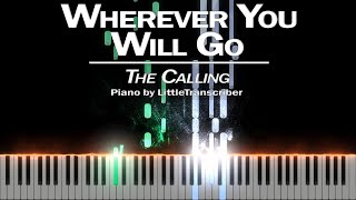 The Calling - Wherever You Will Go (Piano Cover) Tutorial by LittleTranscriber видео