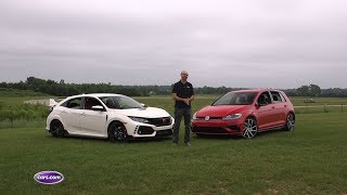2018 Honda Civic Type R Vs. 2018 Volkswagen Golf R — Cars.com