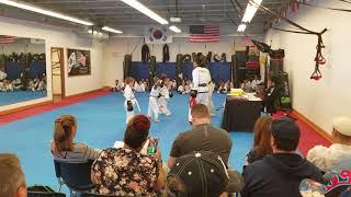 Cho's Martial Arts,..belt ceremony