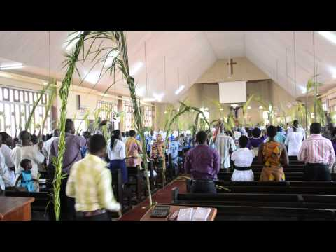 Palm Easter in the Kaneshie Anglican Church, Accra, Ghana