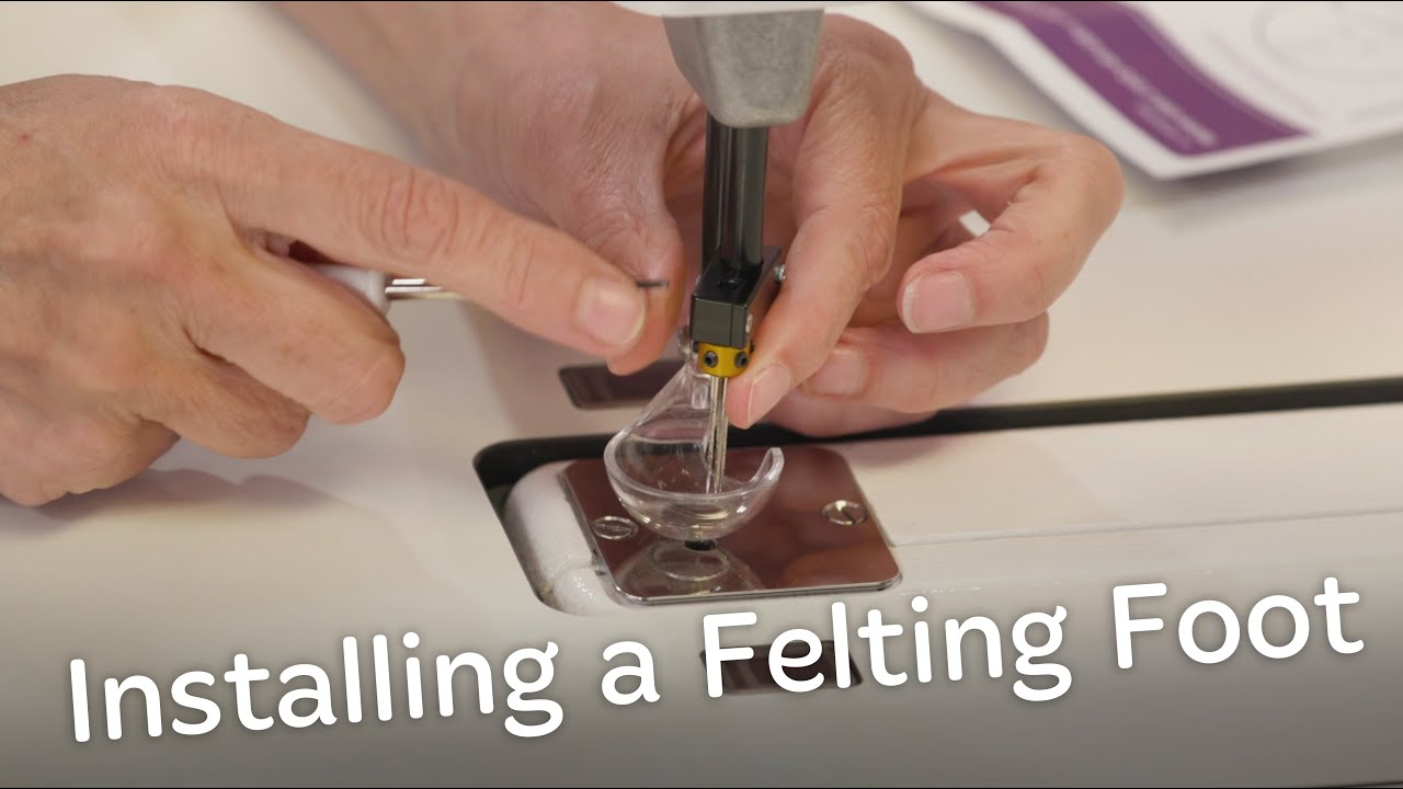 How to install the Handi Felting Foot Kit on a Handi Quilter longarm quilting machine.